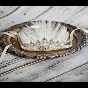 Gatsby Jeweled Beaded Feathered Headband